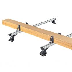4 topes laterales Cruz 10cm para barras aluminio
