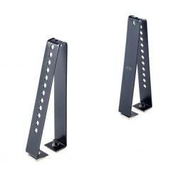 4 topes laterales Cruz 18cm para barras aluminio